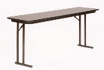 "Correll ST2472PX 01 Folding Seminar Table, 3/4"" Walnut High Pressure Top, 24 x 72"""