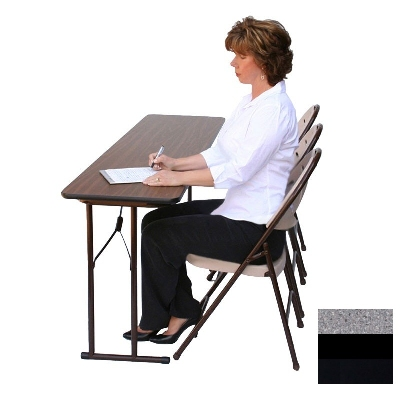 "Correll ST2472P X 15 Off-Set Leg Seminar Table w/ .75"" High Pressure Top, 24 x 72"", Gray Granite"