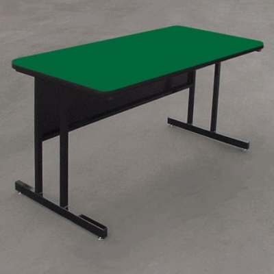 "Correll WS3060 29 29"" Desk Height Work Station w/ 1.25"" Top, 30 x 60"", Green/Black"