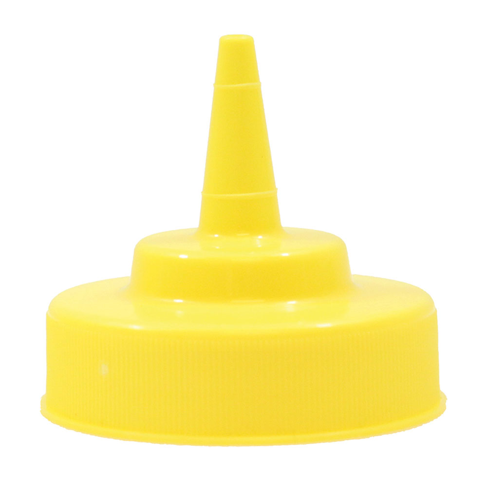 Tablecraft 100TM Squeeze Bottle Top, Cone Shape, Yellow