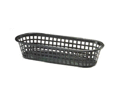 Tablecraft 1018BK Sub Basket, 14 x 5.5 x 3-in Oblong, Black