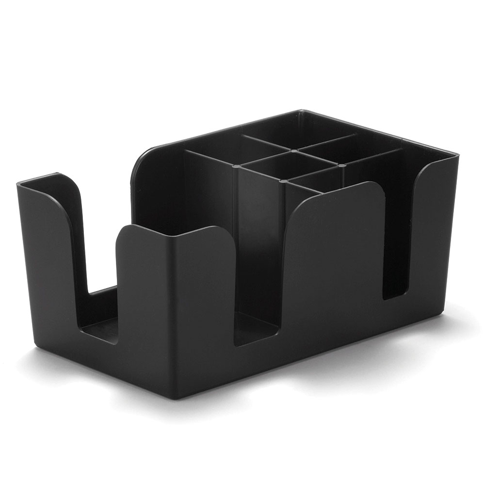 Tablecraft 101 Bar Caddy, ABS Plastic, Black