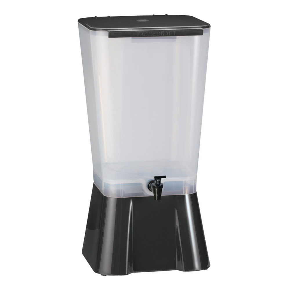 Tablecraft 1053 5-Gallon Beverage Dispenser, Polypropylene, Black