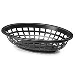 "Tablecraft 1071BK Oval Side Order Basket, 7.73 x 5.5 x 1-7/8"", Black"