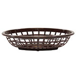 Tablecraft 1071BR Oval Side Order Basket, 7.73 x 5.5 x 1-7/8-in, Brown