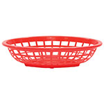 Tablecraft 1071R Oval Side Order Basket, 7.73 x 5.5 x 1-7/8-in, Red