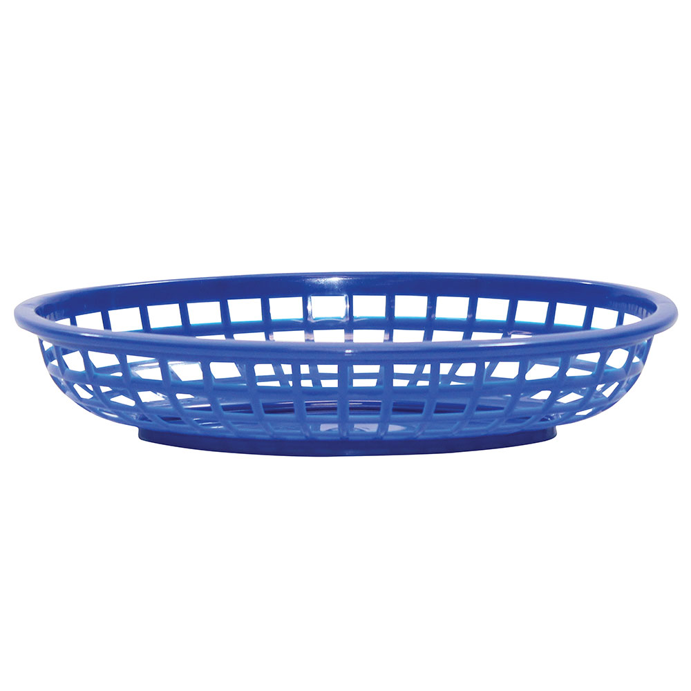 Tablecraft 1074BL Classic Oval Basket, 9-3/8 x 6 x 1-7/8-in, Poly, Royal Blue