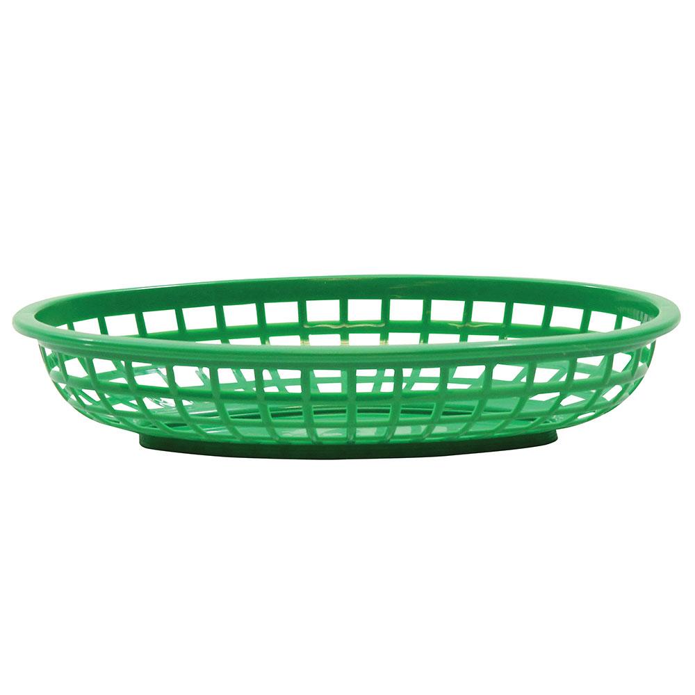 "Tablecraft 1074G Classic Basket, 9-3/8 x 6 x 1-7/8"", Polyethylene, Green"