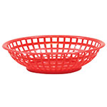 "Tablecraft 1075R Round Serving Basket, 8 x 2-3/8"", Poly, Red"