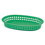Tablecraft 1076G Chicago Platter Basket, 10.5 x 7 x 1.5-in, Oval, Green