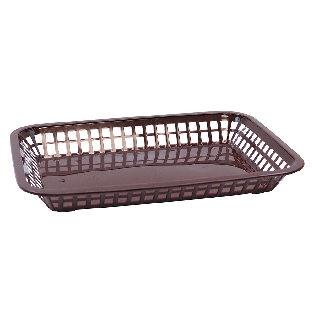 """Tablecraft 1077BR Platter Basket, 10.75 x 7.75 x 1.5"""", Polypropylene, Brown"""