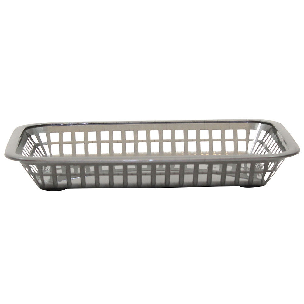 Tablecraft 1077GM Rectangular Platter Basket, 10.75 x 7.75 x 1.5-in, Poly, Gunmetal