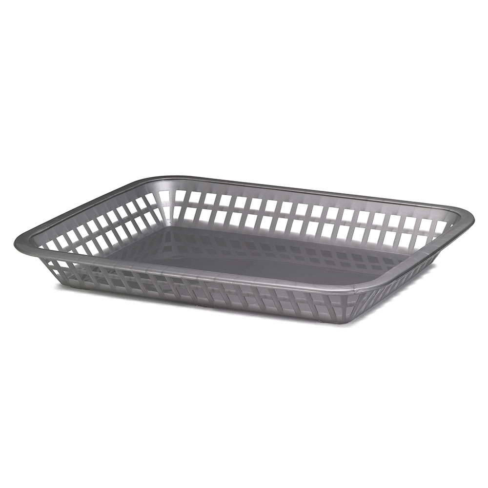Tablecraft 1079GM Rectangular Platter Basket, 11.75 x 8.5 x 1.5-in, Poly, Gunmetal