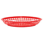 Tablecraft 1084R Jumbo Basket, 11.75 x 8-7/8 x 1-7/8-in, Oval, Red