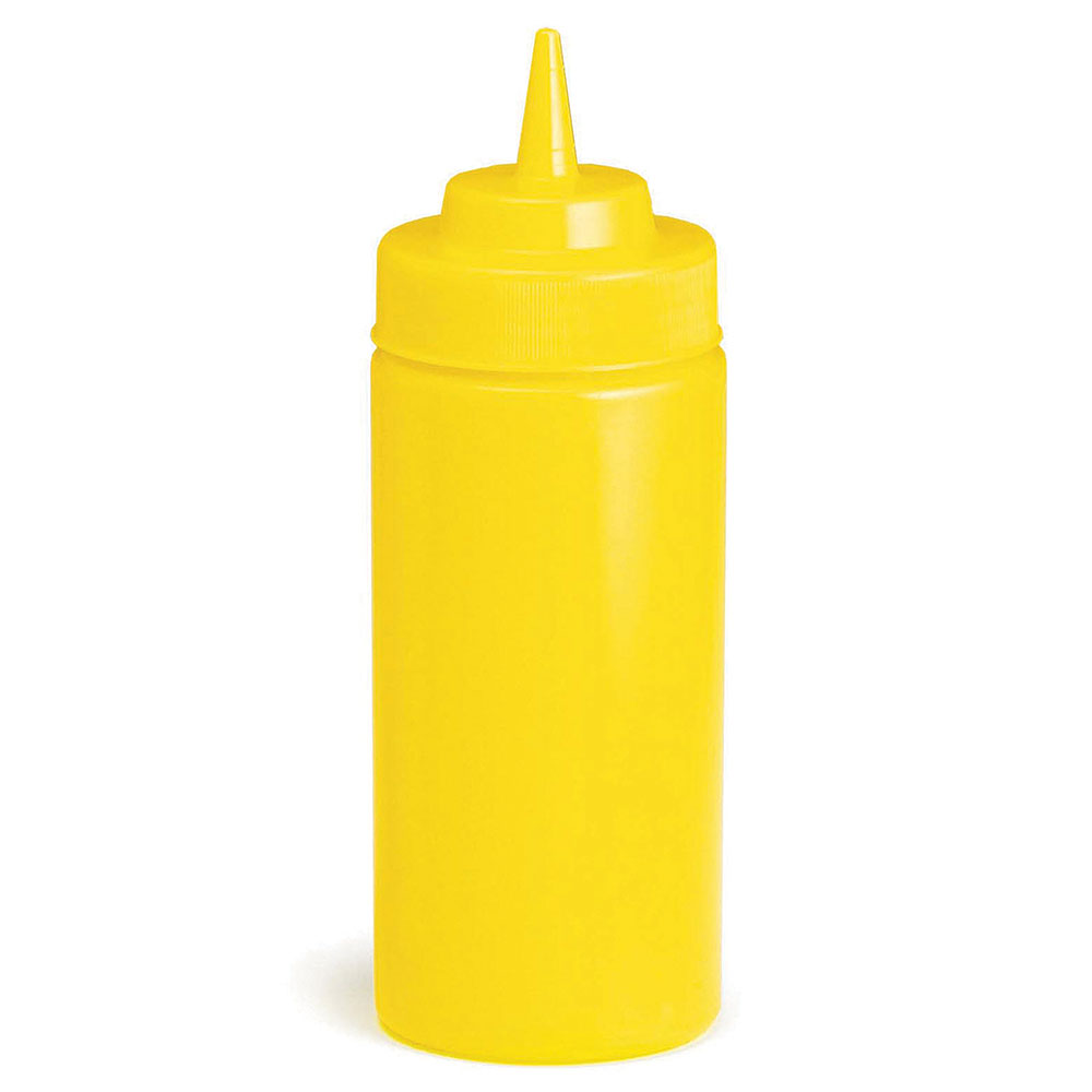 Tablecraft 10853M 8-oz WideMouth Squeeze Dispenser w/ Standard Tip, Mustard