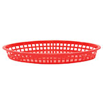 Tablecraft 1086R Texas Platter Basket, 12.75 x 9.5 x 1.5-in Oval, Red