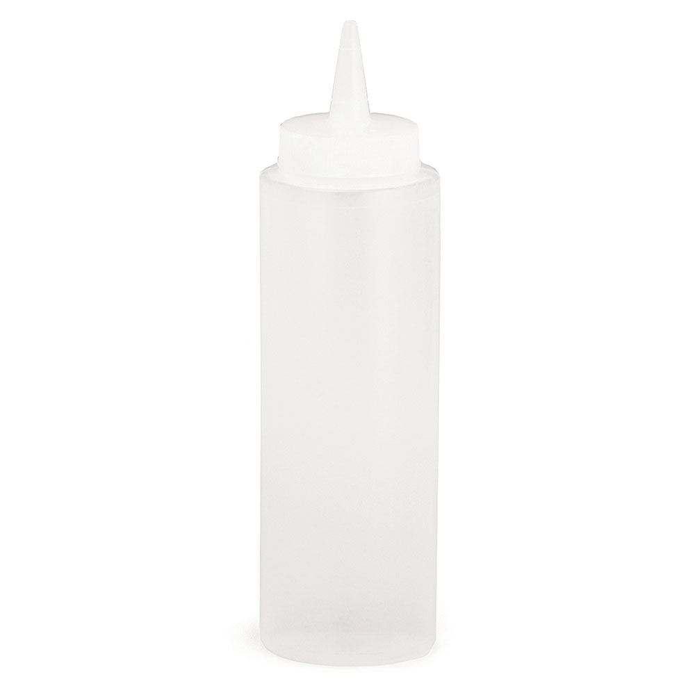 Tablecraft 108C Squeeze Dispenser, 8 oz, Clear, Dozen