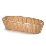 """Tablecraft 1113W Handwoven Basket, 13 x 5 x 3"""", Polypropylene, Oblong"""