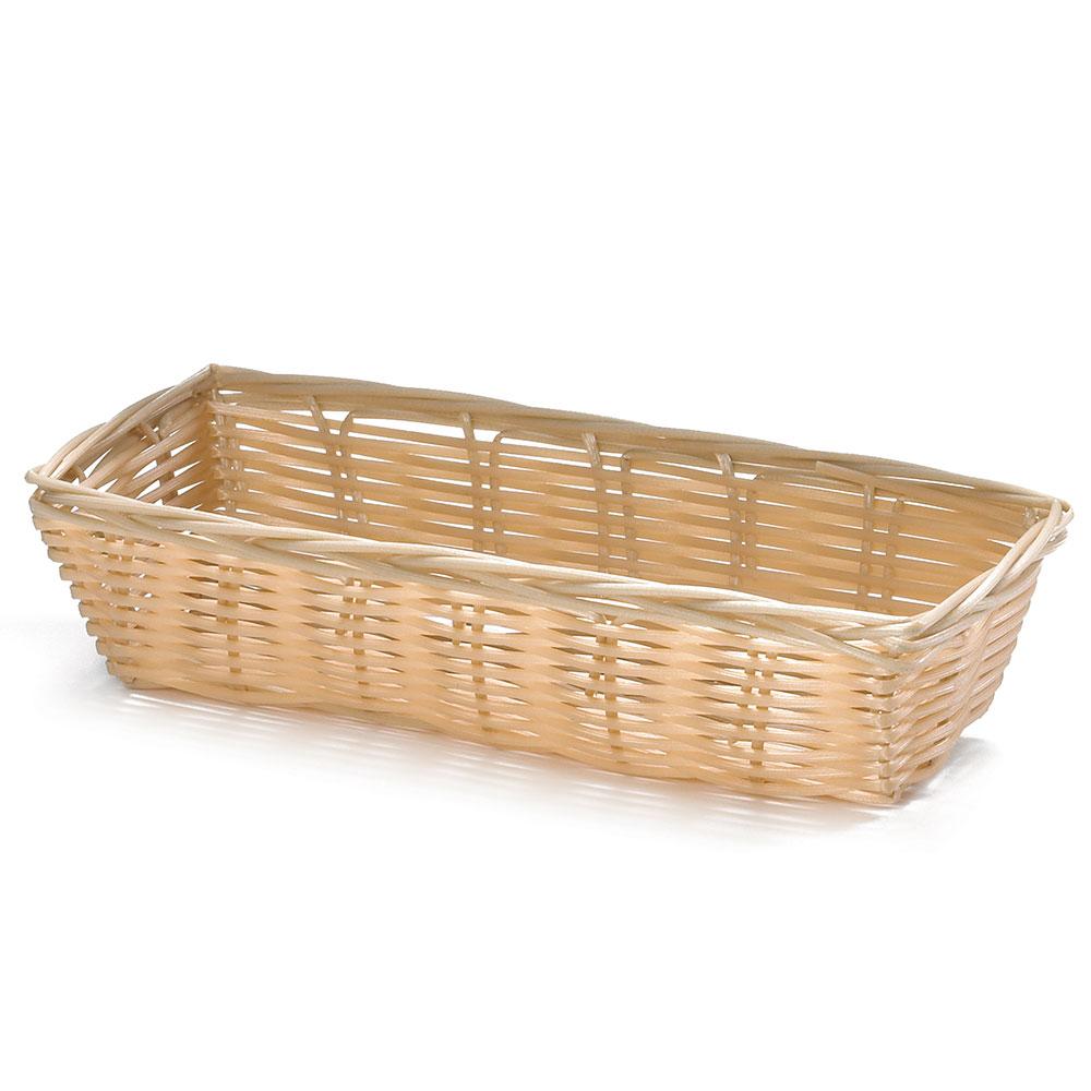 """Tablecraft 1116W Handwoven Basket, 9 x 3-1/2 x 2"""", Polypropylene, Rectangular"""