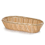 "Tablecraft 1117W Handwoven Basket, 9 x 3-1/2 x 2"", Polypropylene, Oblong"