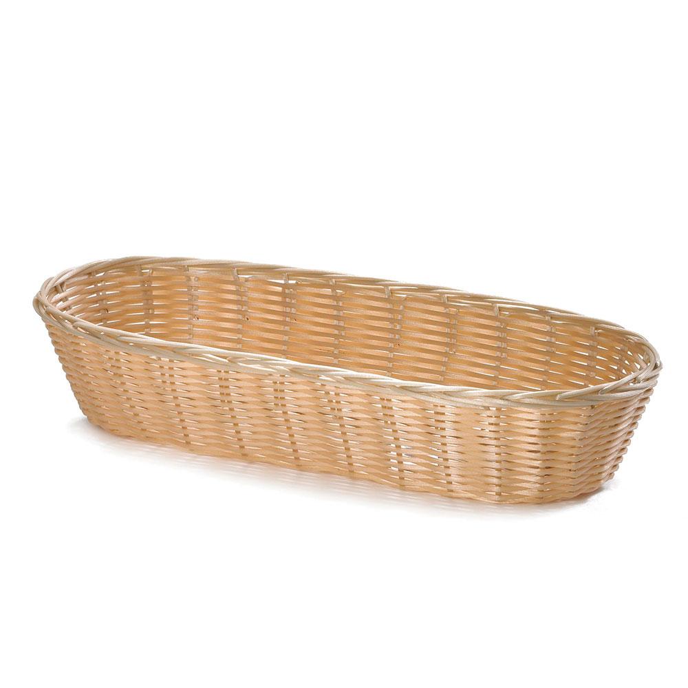 """Tablecraft 1118W Handwoven Basket, 15 x 6 x 3"""", Polypropylene, Natural, Oblong"""