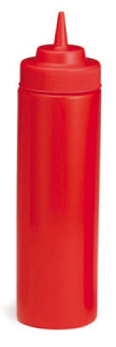 Tablecraft 11253K-1 12-oz Ketchup Squeeze Dispenser w/ Cone Tip, Wide Mouth, Poly, Red