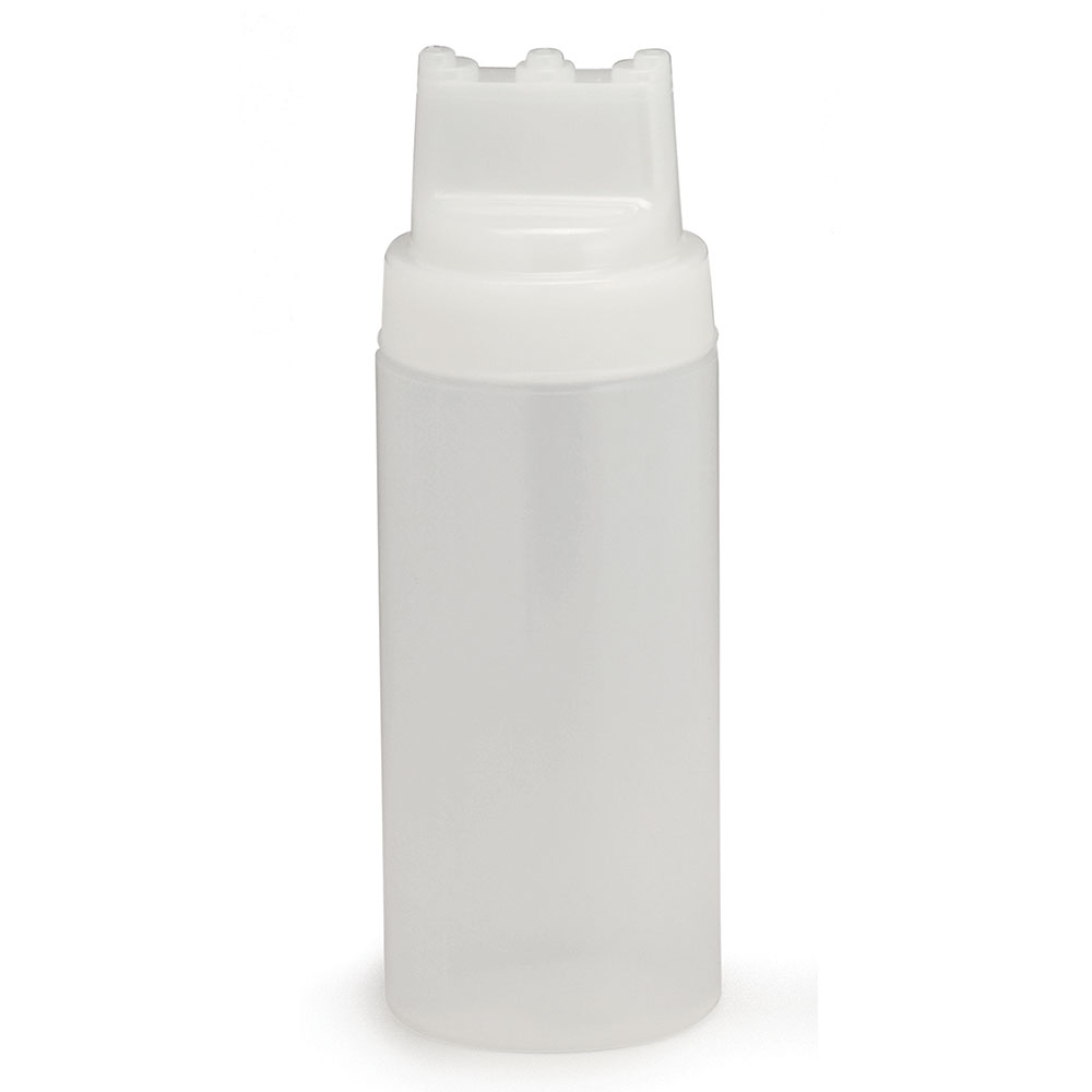 Tablecraft 11663C3 16-oz SelectTop Squeeze Dispenser, Natural, Three Tip Top