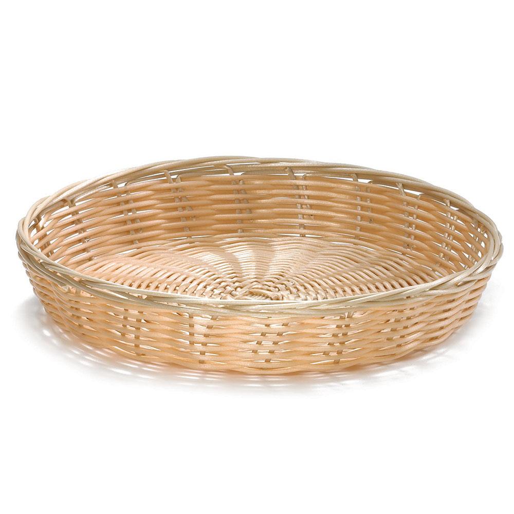 """Tablecraft 1169W Handwoven Basket, 10 x 1-1/2"""" Round, Natural"""