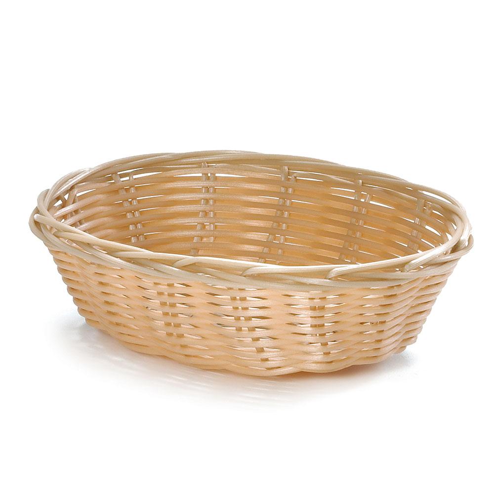 "Tablecraft 1171W Handwoven Basket, 7 x 5 x 2"", Polypropylene Cord, Oval"