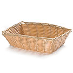 Tablecraft 1172W Handwoven Basket, 9-in x 6-in x 2.5-in, Rectangular, Natural