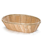 "Tablecraft 1174W Woven Basket, 9 x 6 x 2-1/4"", Oval, Polypropylene Cord, Natural"