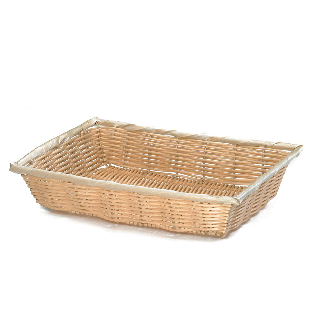 "Tablecraft 1187W Handwoven Basket, 10 x 7-1/4 x 2-3/4"", Polypropylene Cord"