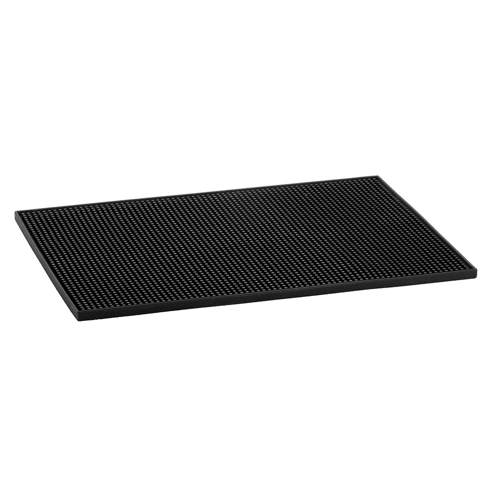 Tablecraft 1218BK Bar Service Mat, Black