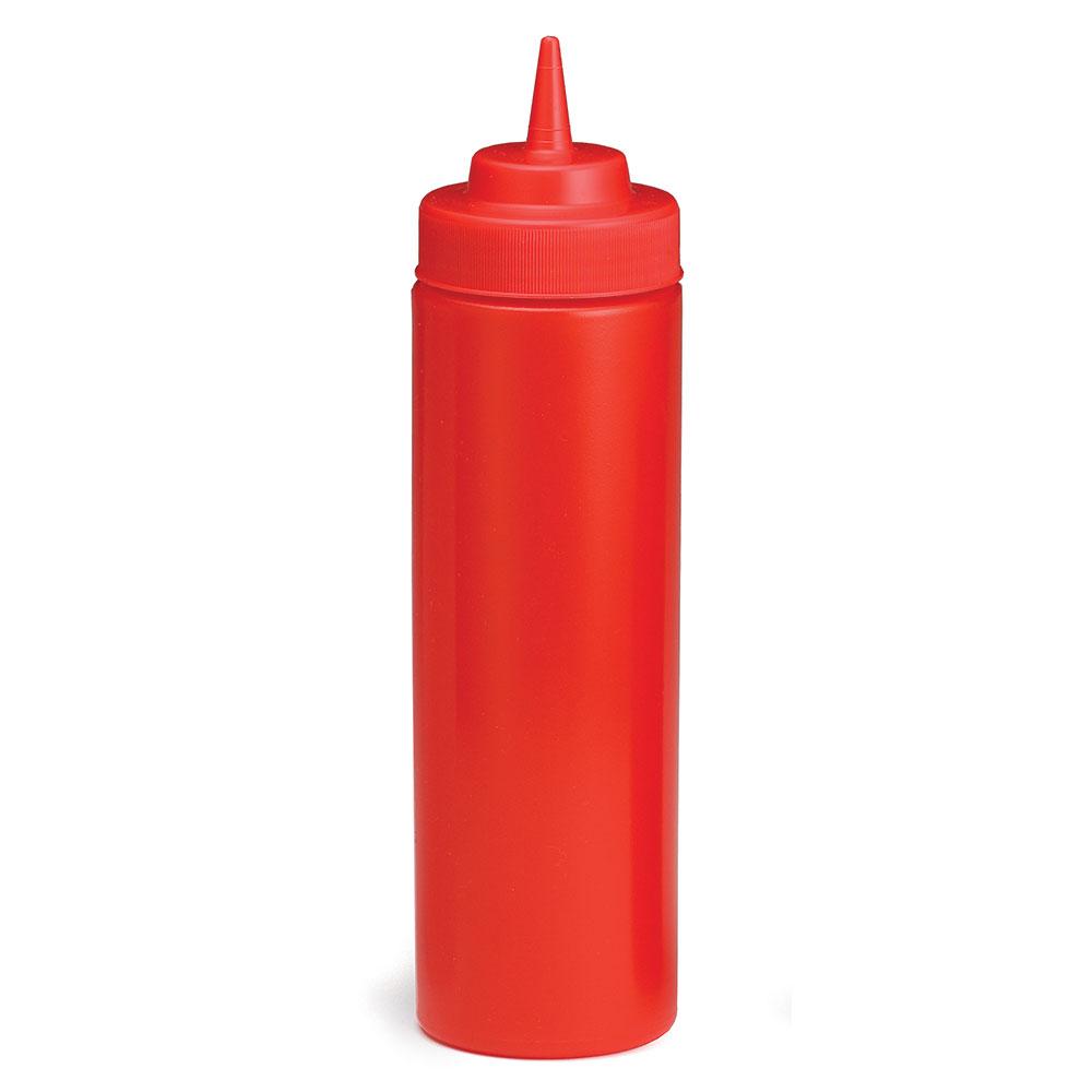 Tablecraft 12463K Wide Mouth Squeeze Dispenser, 24 oz, Polyethylene, Red Cap