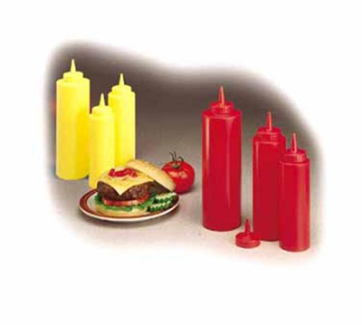 Tablecraft 124K-1 Squeeze Dispenser, 24 oz, Red, Dozen