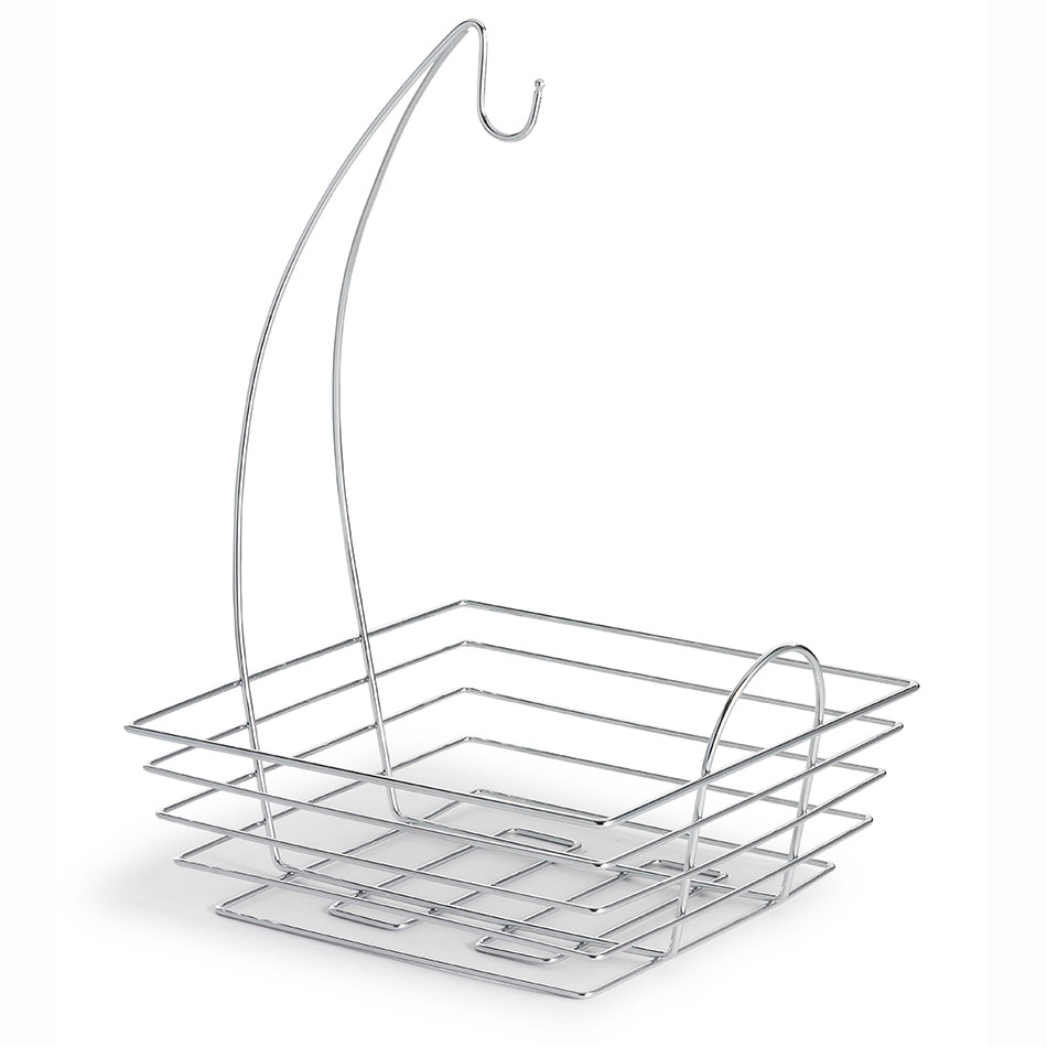 Tablecraft 12SR Square Fruit/Banana Basket - Banana Hanger, Stainless