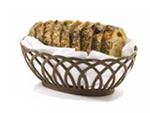 Tablecraft 1374BK Oval Vineyard Basket, 9 x 6.25 x 3.25-in, Poly, Black