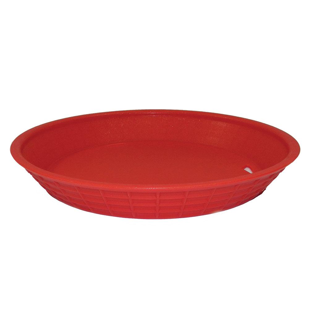 """Tablecraft 13759R 9"""" Round Platter Basket, Polypropylene, Red"""