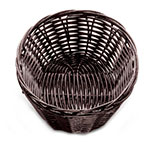 Tablecraft 1471 Handwoven Basket, 7-in x 5-in x 2-in Oblong, Brown