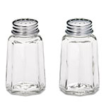 Tablecraft 150S&P-2 1-oz Paneled Glass Salt & Pepper Shaker w/ Stainless Steel Tops