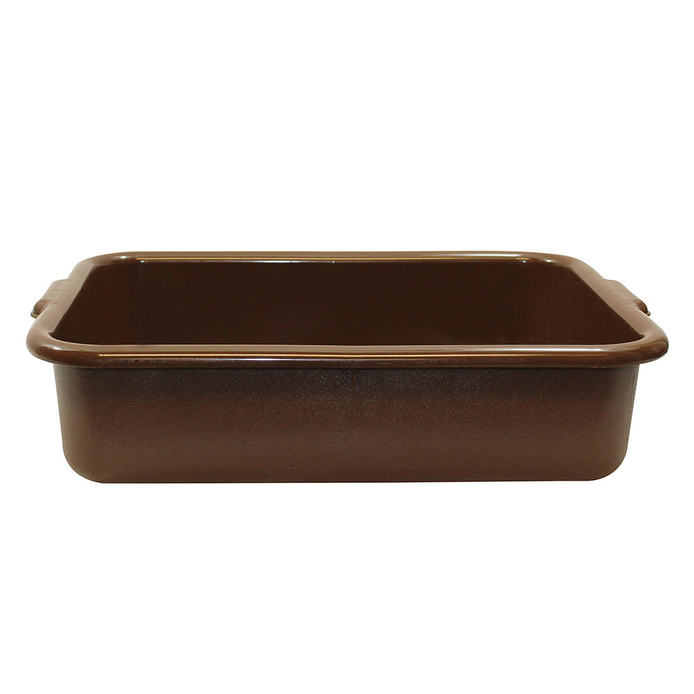 Tablecraft 1529BR Bus Tote Box, 21-1/4 x 15-3/4 x 5-in, Handles, Brown