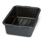 "Tablecraft 1537B Bus Tote Box, 7"" Deep, Stackable, Reinforced Handles, Black"