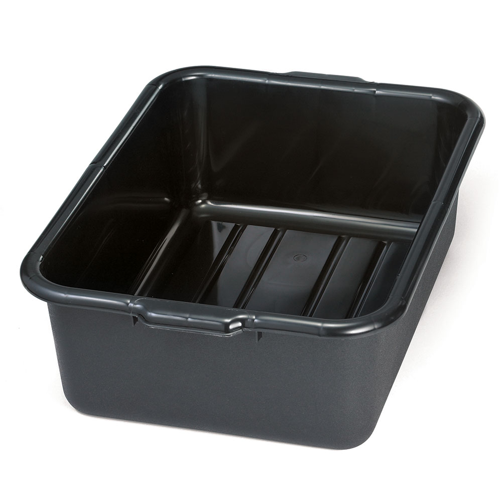 Tablecraft 1537E Tote Box, 21-1/4 x 15-3/4 x 7-in, Recycled, Black