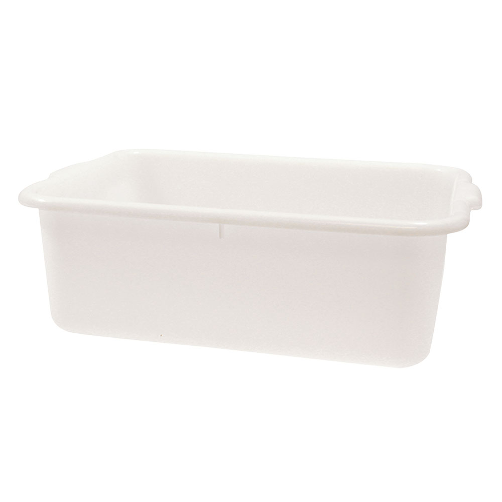 "Tablecraft 1537N Polyethylene Food Storage Box, 21.25 x 15.75 x 7"", White"