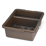 "Tablecraft 1547BR Divided Tote Box, 15 x 22 x 7"" Deep, Brown"