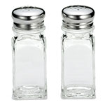 "Tablecraft 154S&P-2 4"" Salt/Pepper Shaker w/ Metal Lid, Square"