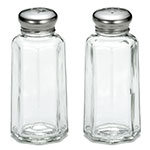 "Tablecraft 155S&P 4"" Salt/Pepper Shaker w/ Metal Lid, Paneled"