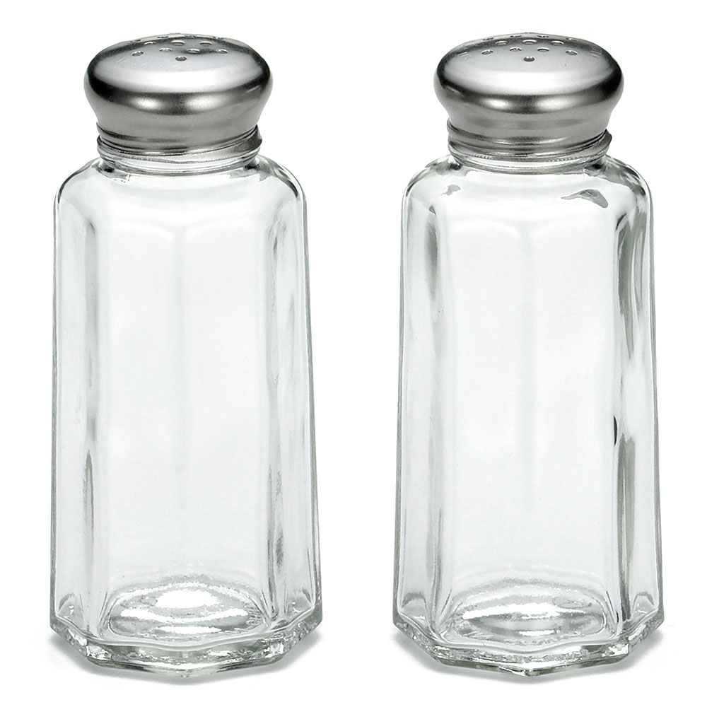 Tablecraft 155S&P 2-oz Salt Pepper Shaker w/ Stainless Steel Top