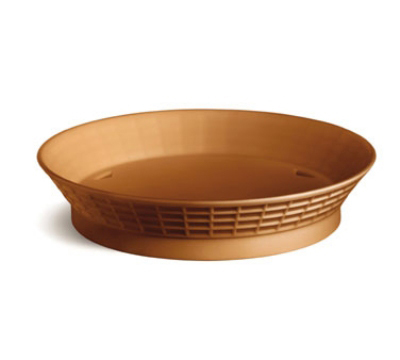 Tablecraft 157512TC 12-in Round Platter Basket w/ Base, Poly, Terra Cotta