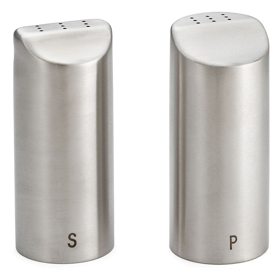 Tablecraft 162 Marina Salt/Pepper Shaker Set, 2-oz, Stainless Steel